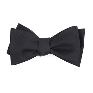 sound wave herringbone black bow ties