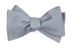 Bow Ties - Sound Wave Herringbone - Silver
