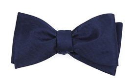 Bow Ties - Sound Wave Herringbone - Navy