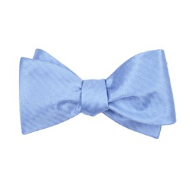 Sound Wave Herringbone Light Blue Bow Ties