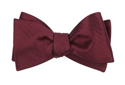 Bow Ties - Sound Wave Herringbone - Burgundy