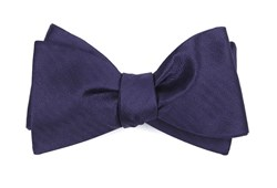 Bow Ties - Sound Wave Herringbone - Eggplant