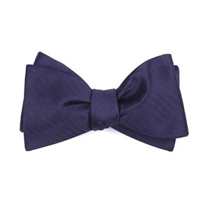 sound wave herringbone eggplant bow ties