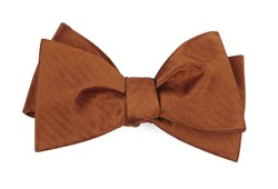 Bow Ties - Sound Wave Herringbone - Burnt Orange