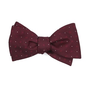 geo key burgundy bow ties