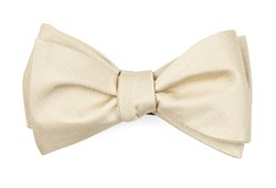 Bow Ties - Grosgrain Solid - Light Champagne