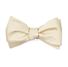 Light Champagne Grosgrain Solid boys bow ties