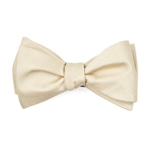 grosgrain solid light champagne boys bow ties