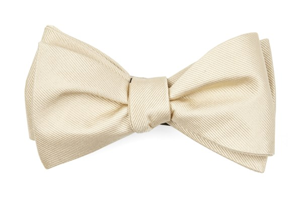 Grosgrain Solid Light Champagne Bow Tie