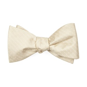 mini dots light champagne boys bow ties