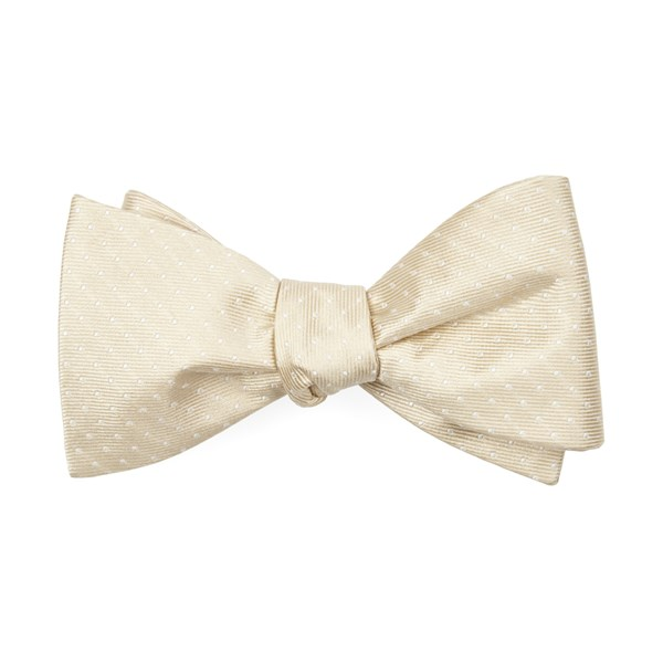 Light Champagne Mini Dots Bow Tie