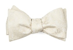 Bow Ties - Ceremony Paisley - Light Champagne