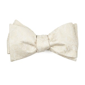 ceremony paisley light champagne bow ties
