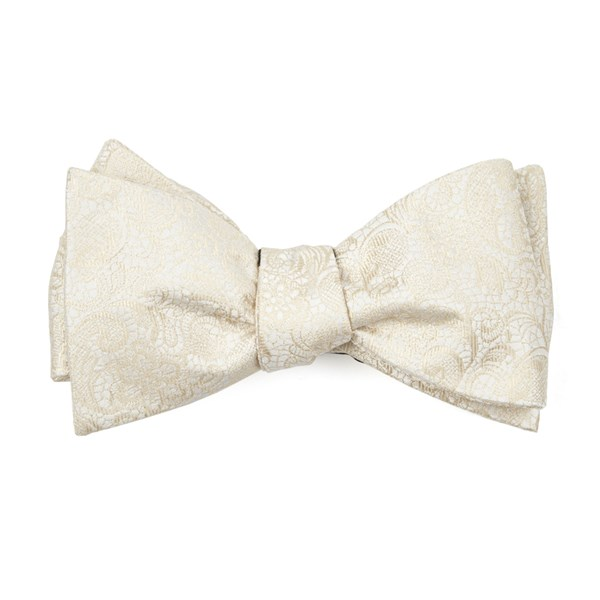 Light Champagne Ceremony Paisley Bow Tie
