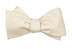 Bow Ties - Be Married Checks - Light Champagne