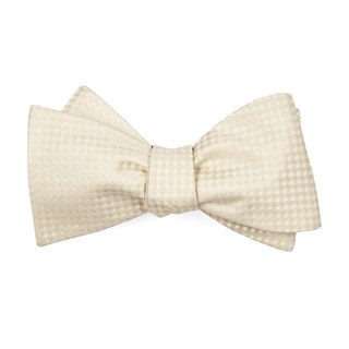 be married checks light champagne boys bow ties