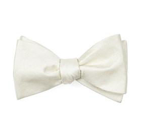Ivory Mini Dots boys bow ties