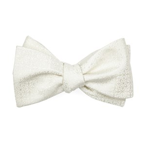 opulent ivory bow ties