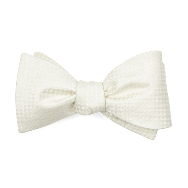Ivory Be Married Checks Bow Tie