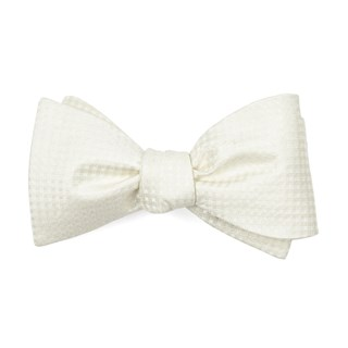be married checks ivory bow ties