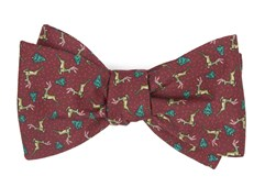 Bow Ties - Christmas Fleet - Burgundy