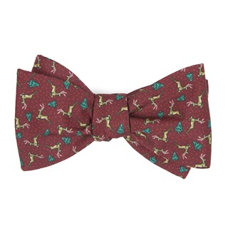 christmas fleet burgundy bow ties