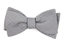 Bow Ties - Jazz Plaid - Silver