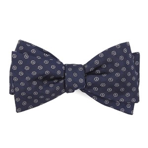 eagle eye medallion navy bow ties