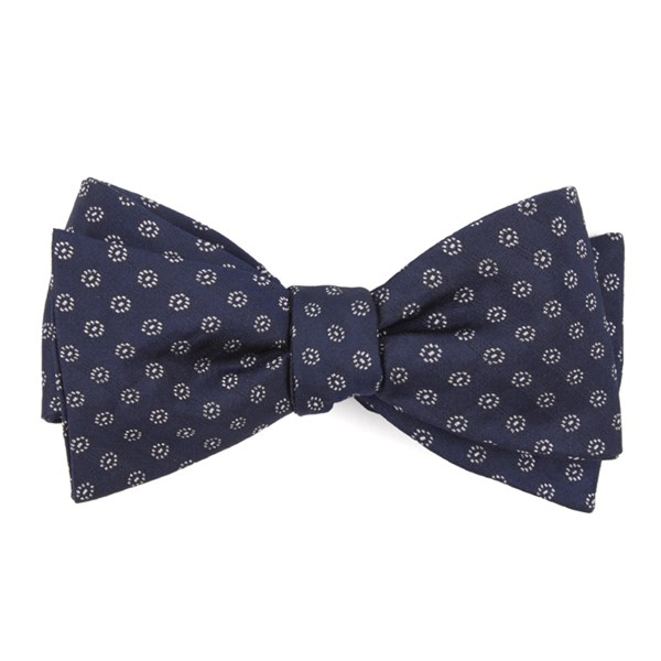 Navy Eagle Eye Medallion Bow Tie