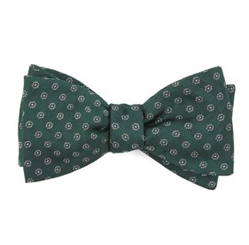 Hunter Green Eagle Eye Medallion bow ties