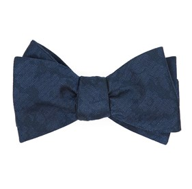 Navy Refinado Floral boys bow ties