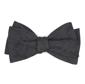 Refinado Floral Black Bow Ties