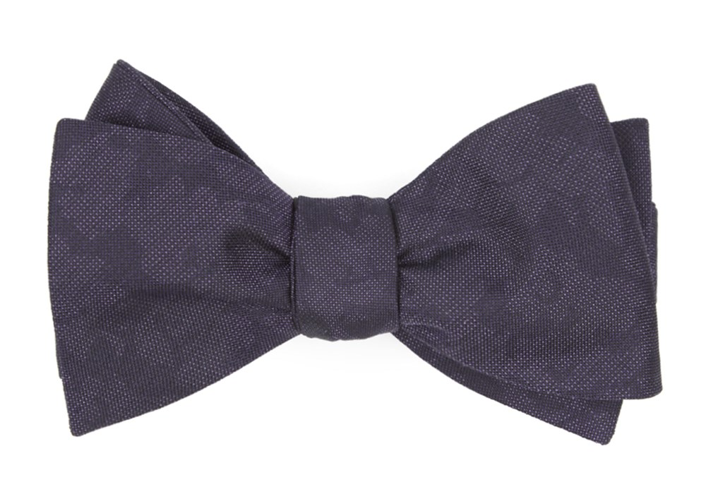 Refinado Floral - Eggplant - Self-Tie - Regular - Bow Ties