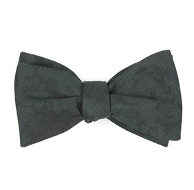 Hunter Green Refinado Floral bow ties