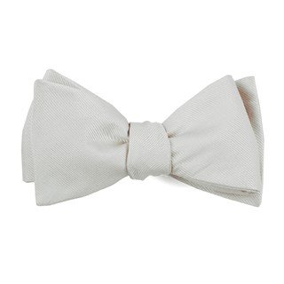 grosgrain solid white bow ties