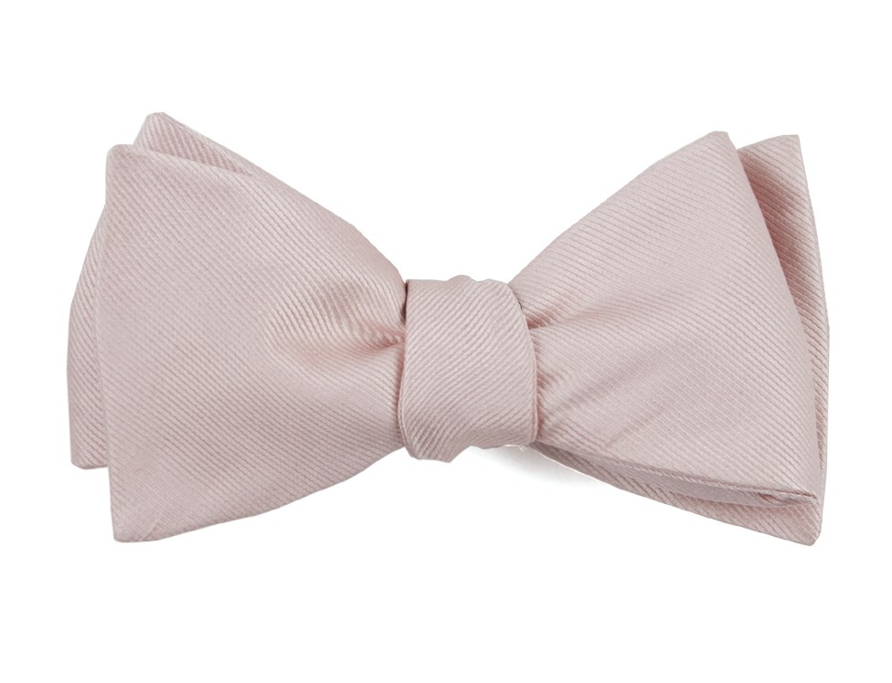 ee6a27820c56 Blush Pink Grosgrain Solid Bow Tie