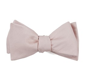 Blush Pink Grosgrain Solid boys bow ties