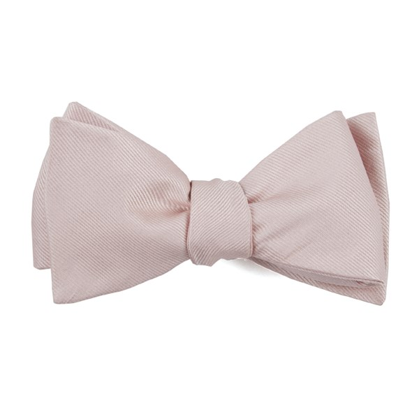 Blush Pink Grosgrain Solid Bow Tie