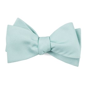 Spearmint Grosgrain Solid boys bow ties