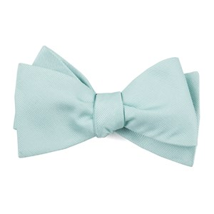 grosgrain solid spearmint boys bow ties