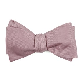 Grosgrain Solid Baby Pink Bow Ties