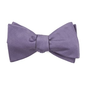 Lavender Grosgrain Solid boys bow ties