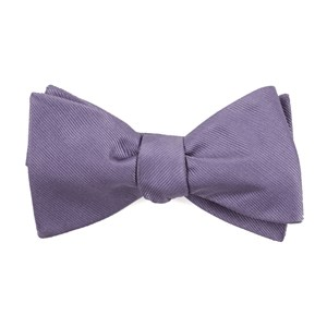 grosgrain solid lavender bow ties