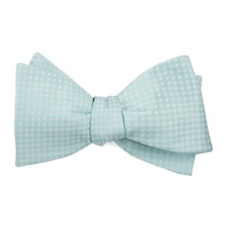 Be Married Checks Spearmint Bow Tie