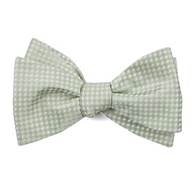 Sage Green Be Married Checks bow ties