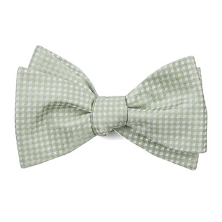 be married checks sage green bow ties