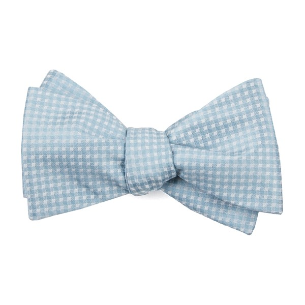 Robins Egg Be Married Checks Bow Tie