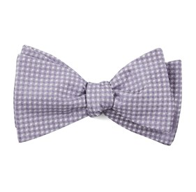 Be Married Checks Lavender Bow Ties