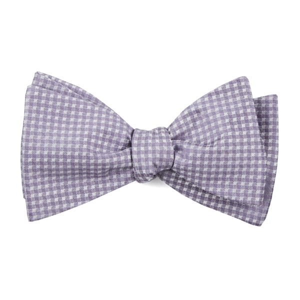 Lavender Be Married Checks Bow Tie