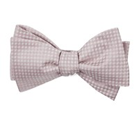 Be Married Checks - Soft Pink - Self-Tie - Regular - Bow Ties